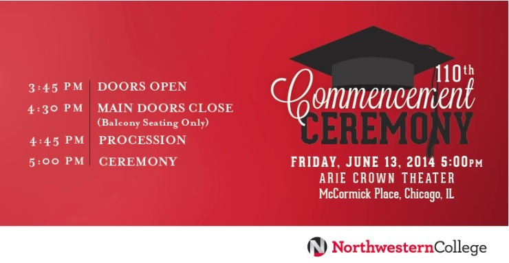 Northwestern College Commencement FLYER