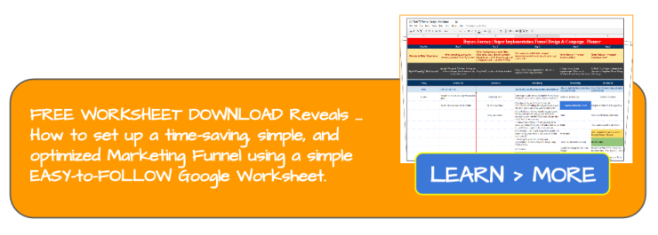 FREE WORKSHEET DOWNLOAD for Marketing Funnel Design