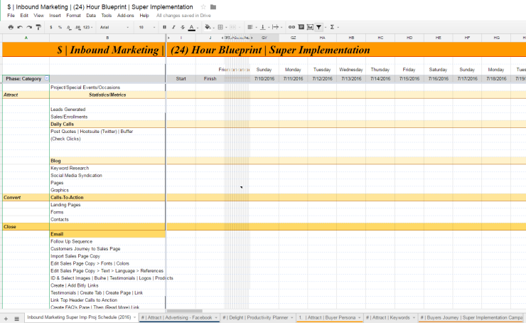 Offer - ULTIMATE Inbound Marketing Implementation Worksheet