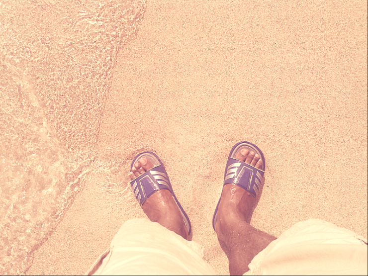 Photo - Panama Sandal's and feet in Sand.png