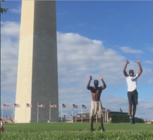 Farai Mash Buihe - Workout Video at Washington Monument 1