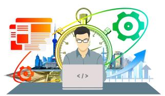 Stock Photo - Productivity Business Man Cartoon