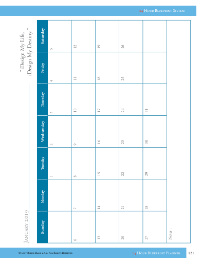 screenshot - monthly calendar example
