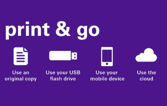 Print & Go purple - print on the go