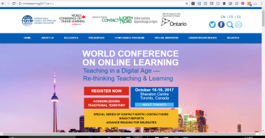 About Us - Online Learning 2017 Conference - Home Page